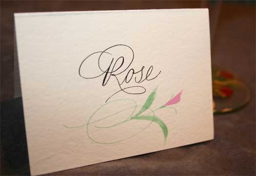 calligraphy envelopes  invitations  place cards - artful celebrations